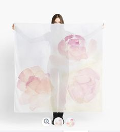 'Watercolor Kisses' Scarf by TessaSanDiego Get The Look, Carousel, Kisses, Watercolor Art, Delicate, Bloom, Store, People, Blowing Kisses