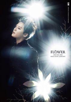 Kim Junsu reveals poster for 3rd Asia Tour Concert 'Flower'