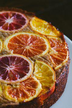 Upside Down Citrus Polenta Cake🍊