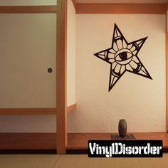 Star Eye Wall Decal - Vinyl Decal - Car Decal - CF063