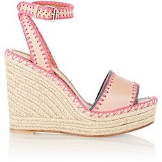 Valentino Embroidered Wedge Espadrilles