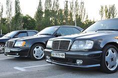 Рассказ владельца Mercedes-Benz E-class Coupe (C124) — встреча. Небольшая фотосессия двух купе в Киеве
