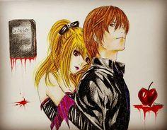 Death Note , matite su cartoncino.