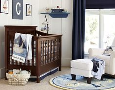 Boating Nursery Decor & Row Your Boats Nursery | Pottery Barn Kids