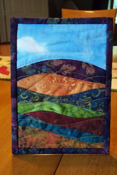 Landscape Art Quilt (layers) would like to make this with view from mom's house as a gift.