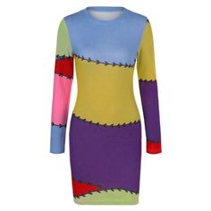 #Rosewholesale - #Rosewholesale Colorful Print Sheath Dress - AdoreWe.com