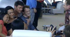 Anton Yelchin with Star Trek Cast during the Dubai visit, 2015