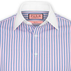 Crosscountry Stripe Shirt - Double Cuff by Thomas Pink