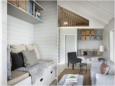 Santi's Royal Home: Coastal Cozy Small House Design, Cottage Design, Danish Interior Design, Small Space Solutions, Concept Home, Common Area, Home Fashion, Scandinavian Style, Built Ins