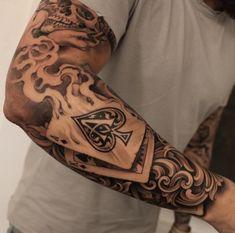 Badass Full Sleeve Arm Tattoo Designs - Best Full Arm Sleeve Tattoos For Men: Cool Sleeve Tattoo Designs and Ideas tattoo ideas for guys 101 Best Sleeve Tattoos For Men: Cool Designs + Ideas Guide) Half Sleeve Tattoos For Guys, Half Sleeve Tattoos Designs, Cool Tattoos For Guys, Best Sleeve Tattoos, Trendy Tattoos, Popular Tattoos, Tattoo Designs Men, Men Tattoo Sleeves, Man Sleeve Tattoo Ideas