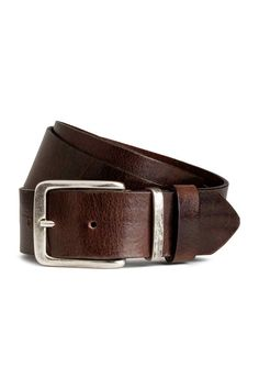 Кожаный ремень - Темно-коричневый - Мужчины | H&M RU 1