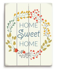 Loving this Floral 'Home Is Where the Heart Is' Wood Wall Art on #zulily! #zulilyfinds