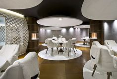 Discover Cheval Blanc Courchevel 1850—dining chalet style.
