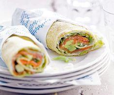 #Wrap au #saumon #fumé