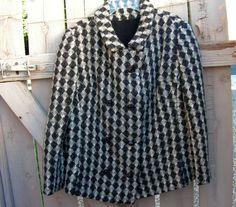 Vintage Zelinka Matlick Mod Coat / Black White by retrosideshow