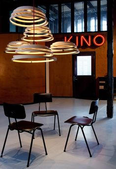 Aspiro 8000 Workshop. Helsinki, Finland. Photo by: Uzi Varon. Cool Lighting, Pendant Lighting, Pendant Lamp, Lighting Ideas, Lighting Manufacturers, Architecture Design, Lights Fantastic, Corporate Interiors, Lighting Solutions