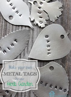 Create your own metal tags for your herb garden