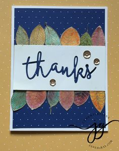 Thank you card.  Just Crazy Blessed Team Blog Hop.  #ctmhwithjanna  jannagray.com