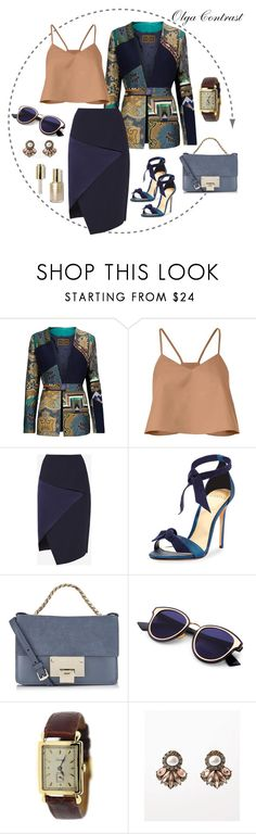 """17.07.2017"" by olgacontrast on Polyvore featuring мода, Etro, TIBI, Ted Baker, Alexandre Birman, Jimmy Choo, Cartier и Stila"