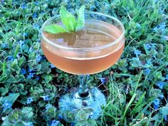 Kore: Metaxa 5 Star brandy, Lillet Rose, apricot-Meyer lemon shrub, Skinos Mastiha liqueur, rhubarb bitters, crème de violette, mint #cocktail