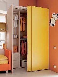 #Cabina Wide slider con cassetti interni. Team for Young www.moretticompact.com