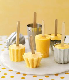 Orange Banana Smoothie Popsicles- Punch up citrus in a flash — the flavor is tripled