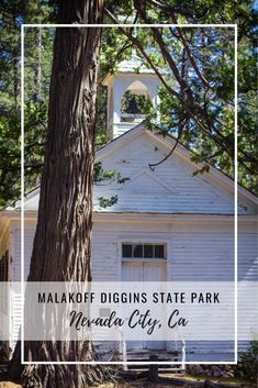 Malakoff Diggins State Park, visit the ghost town of North Bloomfield and learn about the mining history or take a hike down to the South Yuba River. Grass Valley, Nevada City, Sierra Nevada, Ghost Towns, Abandoned Places, Northern California, Old Town, State Parks, The Good Place