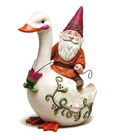 Take a look at this Duck & Gnome Statuary by Evergreen on #zulily today!