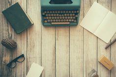 Máquina De Escrever, Livro, Notebook, Papel, Escrito