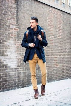 24 Stunning Navy Blue Coat Outfits For Men