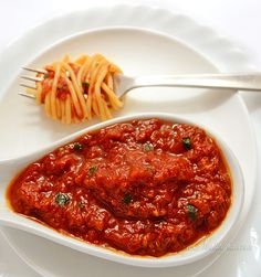 Tomato Salsa - the best pasta sauce on the face of the Earth; can be used as a crostini spread or dip; Croatian recipe - by kitchennostalgia.com