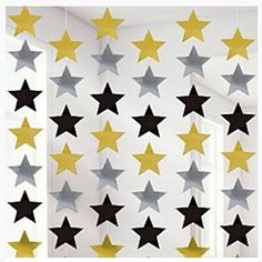 Solid Colour Decorations Gold Silver & Black Star Strings - 2 great for a hollywood party Hollywood Party, Hollywood Lights, 1990s Party Theme, Party Themes, Party Shop, Diy Party, James Bond Party, New Years Eve Decorations, Style Deco