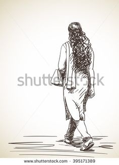 Stock Images similar to ID 270540776 - sketch of old man walking. Human Figure Sketches, Human Sketch, Figure Sketching, Face Sketch, Figure Drawing, Small Drawings, Pencil Art Drawings, Art Drawings Sketches, Cute Drawings