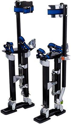 "Pentagon Tool Professional 18""-30"" Black Drywall Stilts Highest Quality - If you are in the market for a set of drywall stilts, stop looking. Pentagon Tool is an industry leader in drywall supplies and accessories. They sell more lifts, stilts, and accessories than most other sellers combined. You are bidding on a set of NEW premium grade Drywall Stilts. They are perfe..."