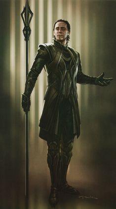 Loki concept art from The Art of The Avengers. This book is absolutely amazing, I also have The Art of Thor: The Dark World. Loki Thor, Loki Laufeyson, Tom Hiddleston Loki, Loki And Sigyn, Loki Art, Loki Avengers, Marvel Dc Comics, Marvel Avengers, Avengers 2012