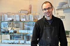 Paul Briggs, the owner of the Edible Flours bakery