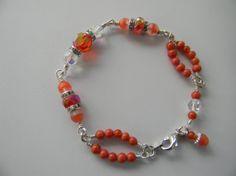 Vintage assemblage summer coral bracelet. by InspirationsTransfor, $32.00