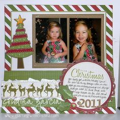 Christmas Layout Scrapbook Page