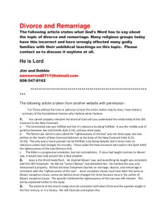 Divorce and Remarriage by spiritntruth via slideshareMany Mennonite groups claim that pre-conversion divorce is the only sin not forgiven covered after conversion.This is dangerous and damaging to a believers walk and many godly families have been torn apart by this false teaching. www.nopews.blogspot.com