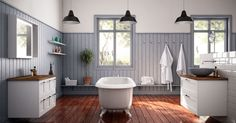 Drömmer du om ett lantligt badrum? Badrummet Studio vit från Ballingslöv är ett stilrent badrum i lantlig stil. Hitta din badrumsinspiration hos Ballingslöv!