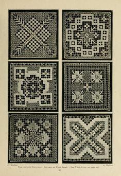 Netting lace ~ 1914