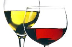 Red and White Wine Glasses | Glass of red wine and a glass of white wine