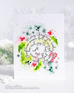 Merry Christmas Card by Kay Miller for Papertrey Ink (November 2016)