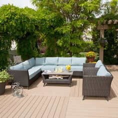Shop for Broadway 5 piece Blue Sofa Set. Get free delivery at Overstock.com - Your Online Garden