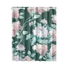Vintage Floral Wallpaper Victorian Flowers Window Curtain 52