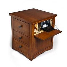 Night Stand With Locking Secret Hidden Drawer Brother