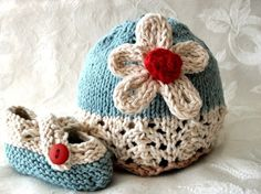 I LOVE these hat and booties combination.  I bought a pink on for my soon-to arrive niece.