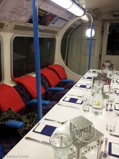 Dinner on the Tube. Well, gourmet dining on an Underground train.