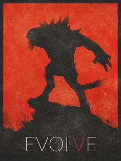 Evolve Poster 11x17 12x16 A3 A2 Art Inspired by BaydleCreative