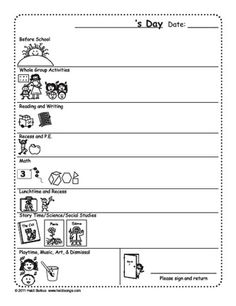 Daily Behavior Contract Product From Kookykindergarten On